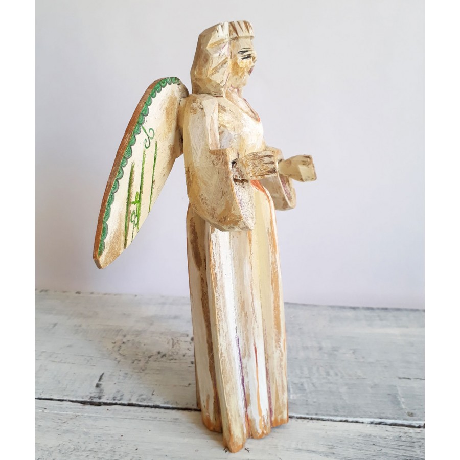 Angel ceramic sculpture art Handmade angel figurine