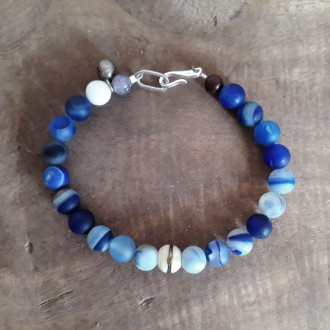 Blue Harmony Sodalite Stone bead bracelet for Men