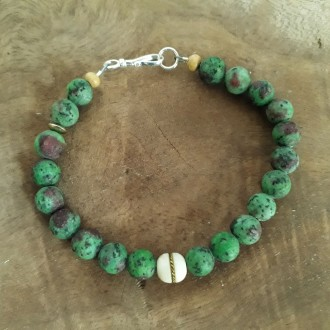 Green Earth Natural Jasper Stone bead bracelet for Men