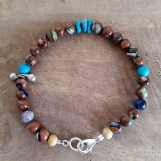 Colorful Natural Stone Bracelet for Women